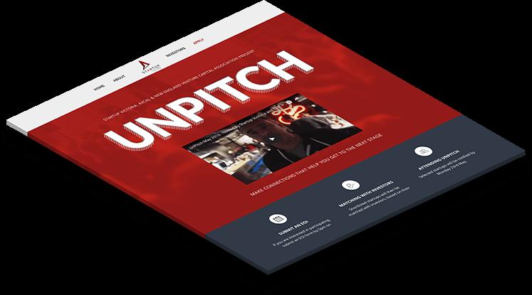 Unpitch Startup Victoria Website